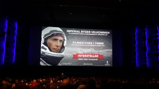 forpremiere Imperial Bio - Interstellar i 70mm